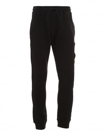 Mens Cotton Fleece Black Sweatpants