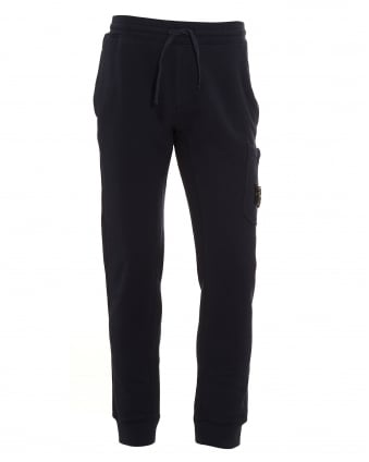 Mens Cotton Fleece Navy Blue Sweatpants
