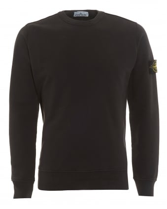 Mens Crew Neck Sweatshirt, Garment Dyed Anthracite Jumper