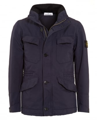 Mens David -TC Navy Blue Water Repellent Field Jacket