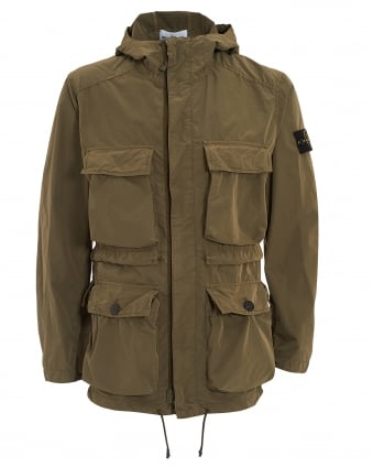 Mens David Tela Light-TC Khaki Parka Jacket