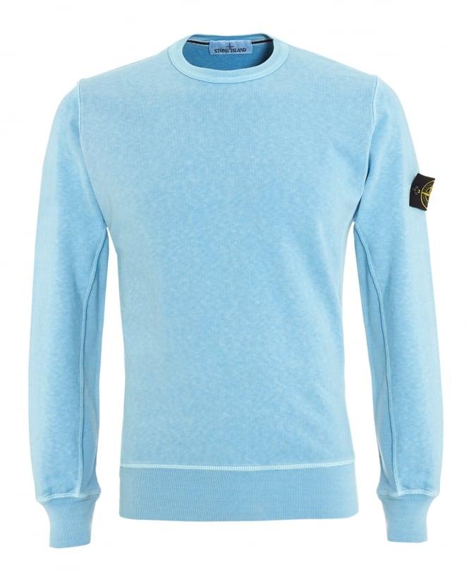 Stone Island Garment Dyed Fleece Crew Sweat Sale