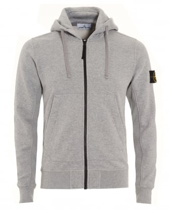 Mens Hoodie Grey Dust Zip Hooded Sweatshirt