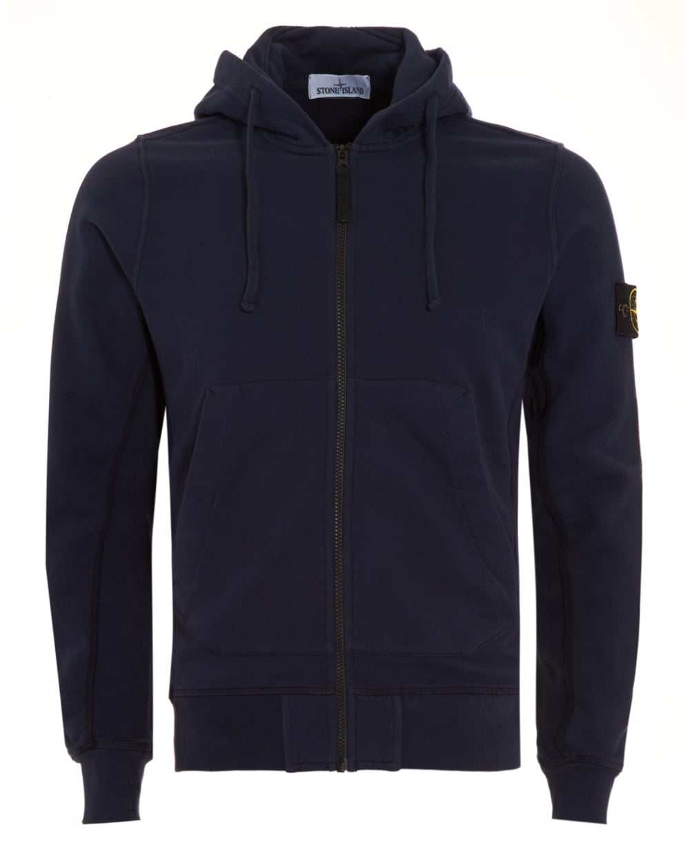 stone island mens hoodie navy blue zip hooded sweatshirt. Black Bedroom Furniture Sets. Home Design Ideas