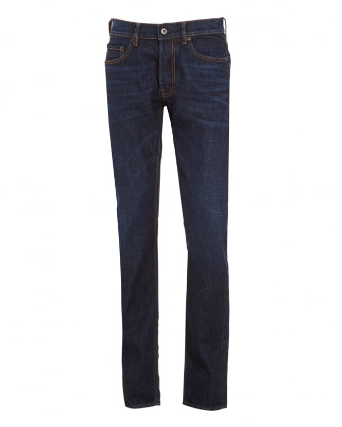 Stone Island Mens Jeans, Slim Fit Blue Wash Denim