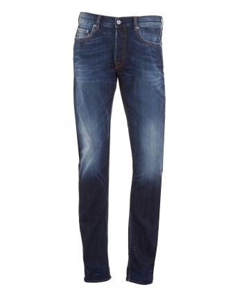 Mens Jeans, Slim Fit Vintage Wash Denim