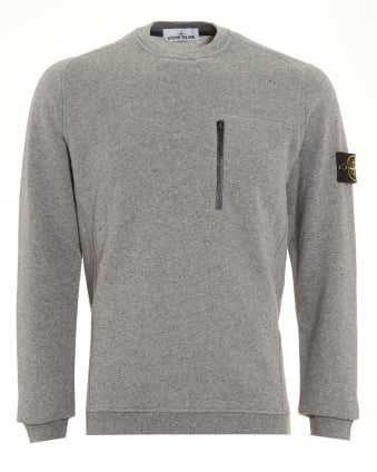 Mens Jumper, Speckled Grey Sweater