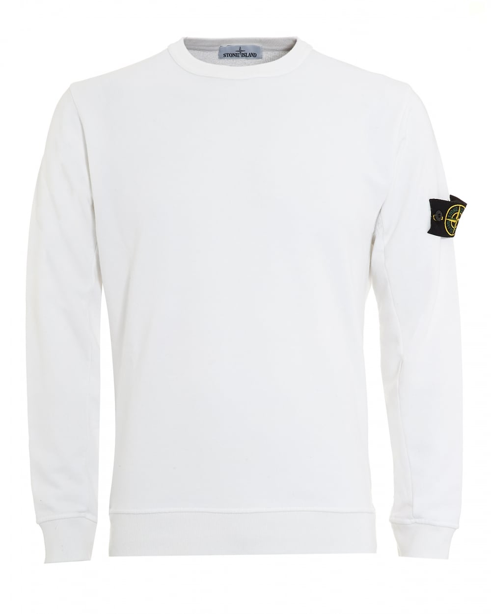 Stone Island Mens Jumper, White Arm Badge Sweater