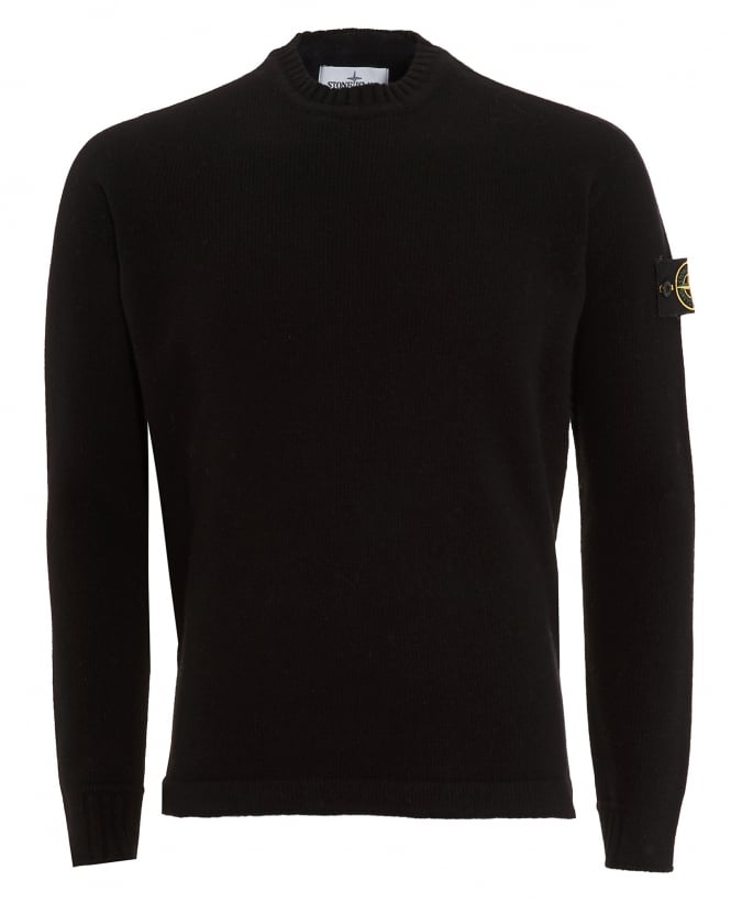 Stone Island Mens Knitted Jumper, Black Badge Jumper