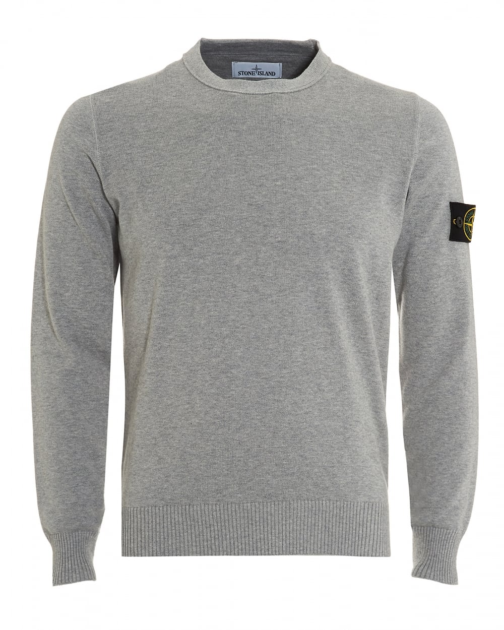 Stone Island Mens Knitted Jumper Polvere Grey Badge