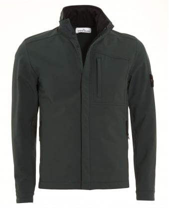 Mens Military Green Soft Shell-R Waterproof Hooded Jacket