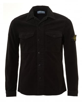 Mens Moleskin Overshirt, Cotton Black Jacket