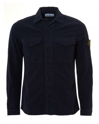 Mens Moleskin Overshirt, Cotton Navy Blue Jacket