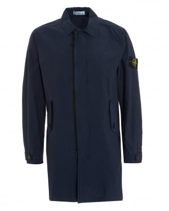 Mens Navy Blue Mac Coat