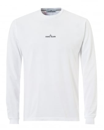 Mens Reflective Pin T-Shirt, Long Sleeve White Tee