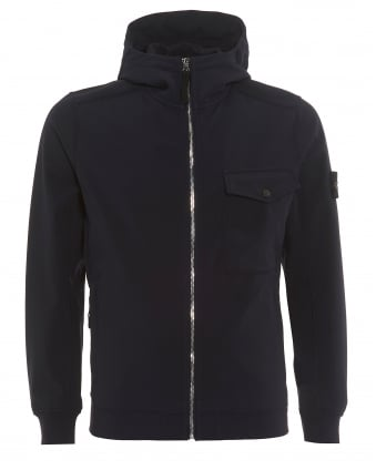 Mens Soft Shell-R Hooded Navy Blue Jacket