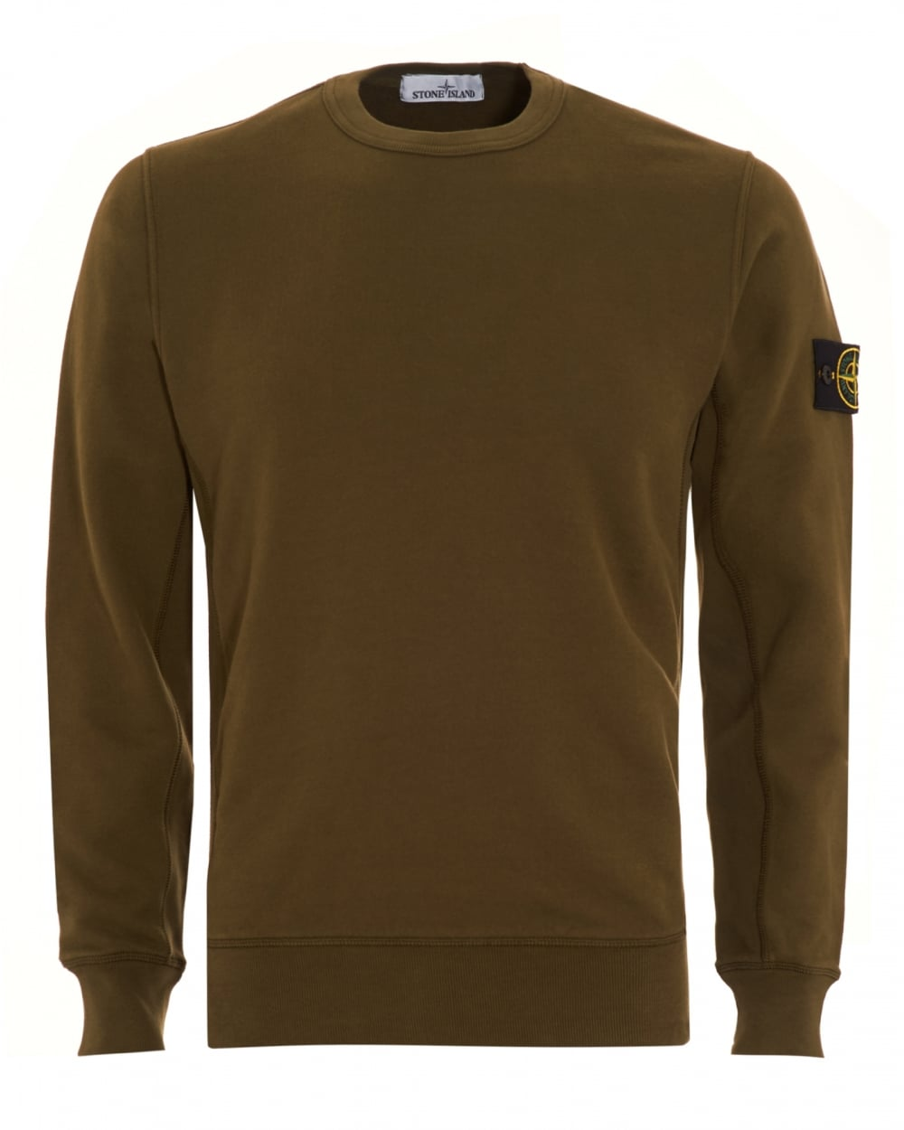 stone island mens sweatshirt military green dyed logo. Black Bedroom Furniture Sets. Home Design Ideas