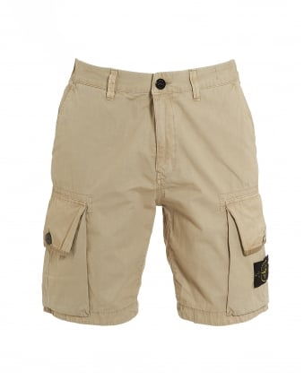 Mens T.CO+OLD Beige Cargo Pocket Shorts