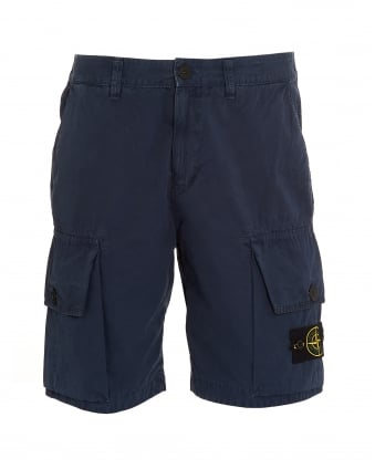 Mens T.CO+OLD Blue Marine Cargo Pocket Shorts