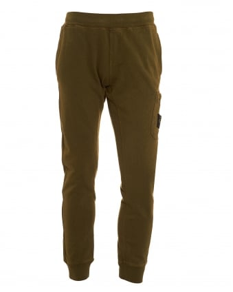 Mens T.CO+OLD Track Pant, Military Green Slim Fit Joggers