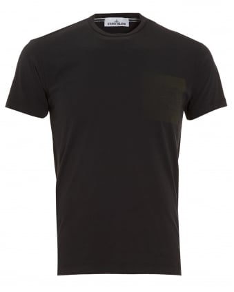 Mens T-Shirt, Black Graphic Print Compass Logo Tee
