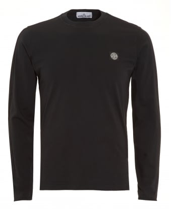 Mens T-Shirt, Black Long Sleeve Tee