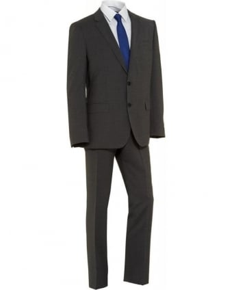 Suit Grey Two Button Plain 'Huge3 Genius2' Suit