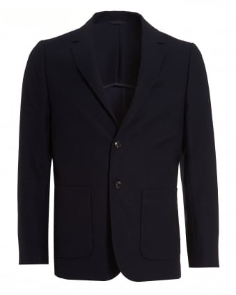 Mens Blazer, Navy Blue Unstructured Jacket