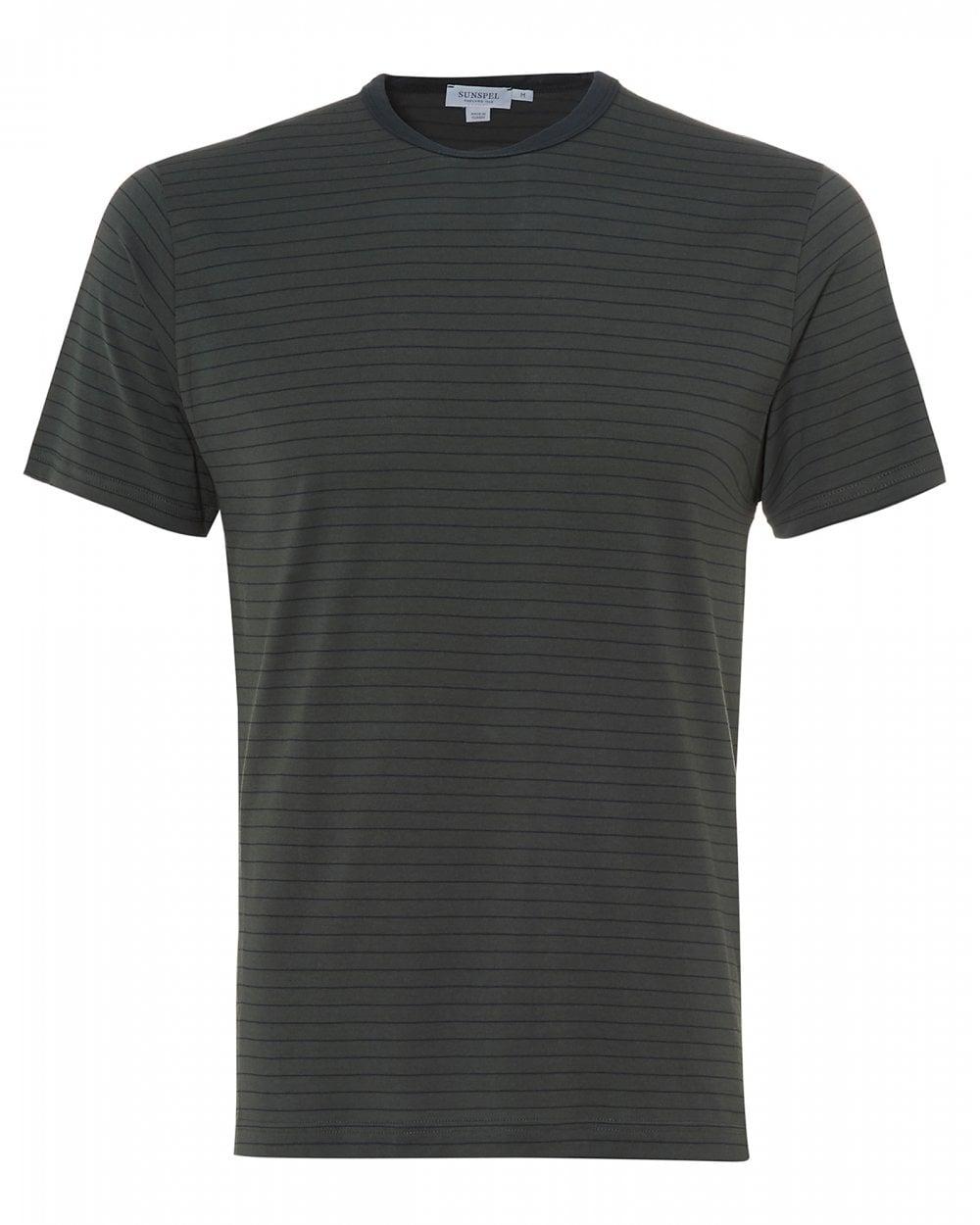 d9660f9905c3d Sunspel Mens Fine Striped T-Shirt