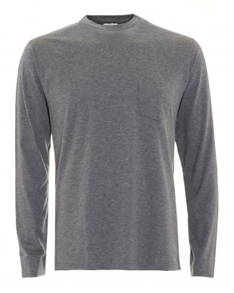 Mens Long Sleeve Charcoal Grey T-Shirt