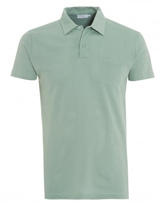 Mens Mint Green Riviera Pocket Polo Shirt