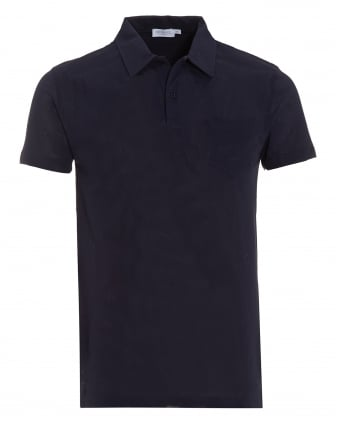 Mens Navy Blue Riviera Pocket Polo Shirt