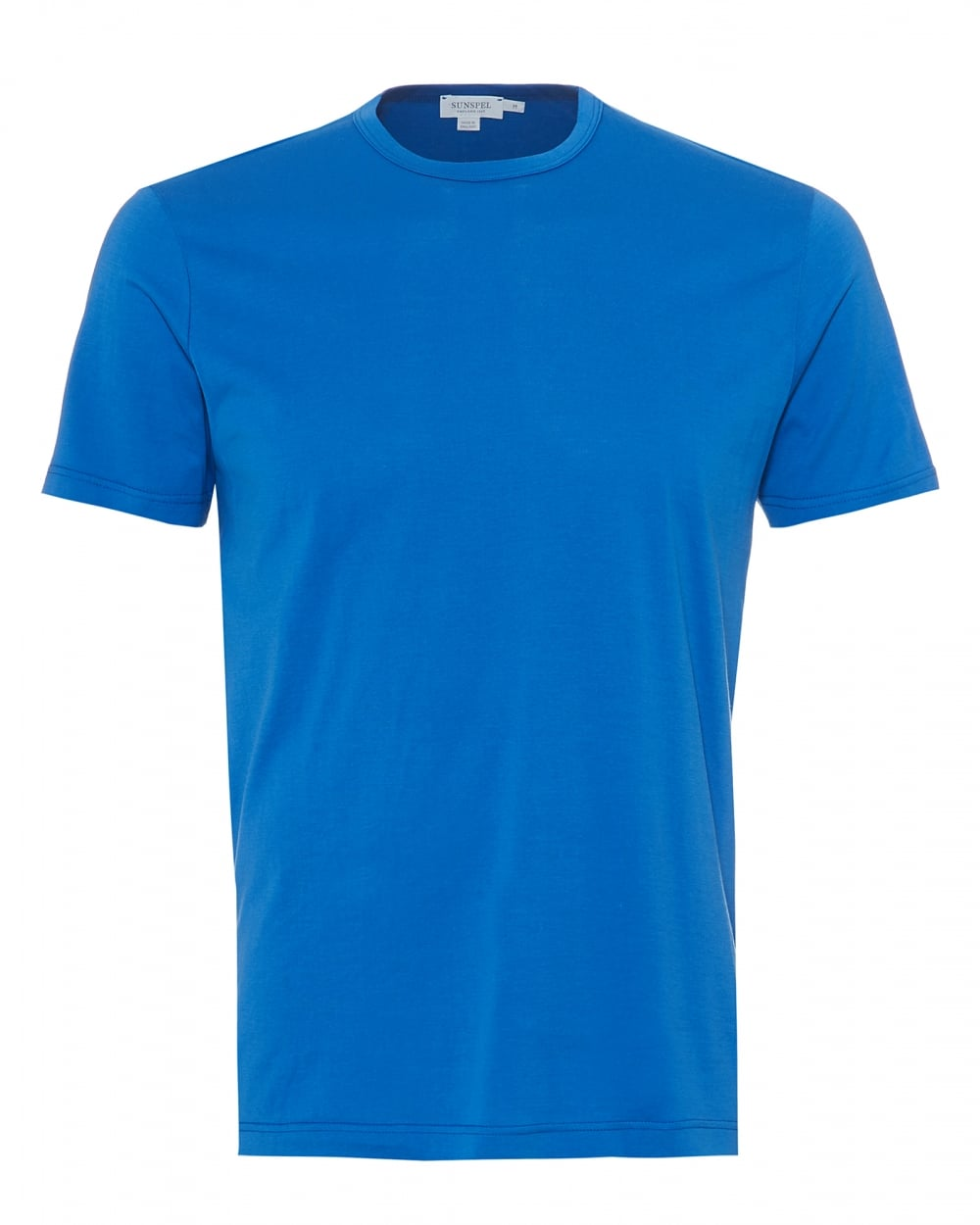 Sunspel mens plain t shirt 100 cotton klein blue tee for Mens 100 cotton t shirts