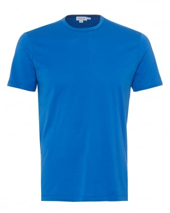 Mens Plain T-Shirt, 100% Cotton Klein Blue Tee