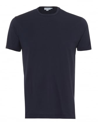 Mens Plain T-Shirt, 100% Cotton Navy Blue Tee