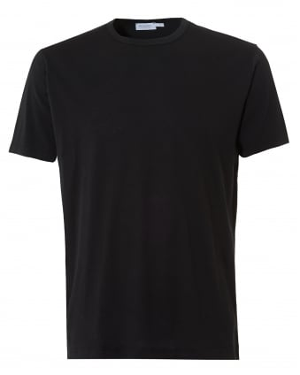 Mens Plain T-Shirt, Crew Neck Cotton Black Tee