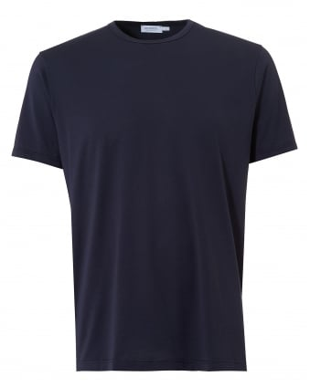 Mens Plain T-Shirt, Crew Neck Cotton Navy Tee