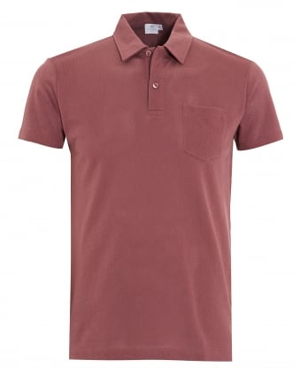 Mens Polo Shirt, Red Brick Riviera Pocket Polo