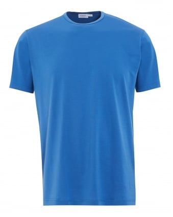 Mens Regular Fit T-Shirt, Denim Blue Plain Cotton Tee