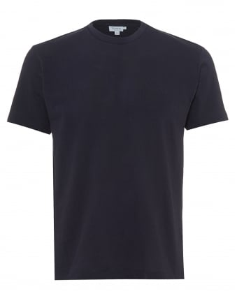 Mens Riviera Mesh T-Shirt, Plain Navy Blue Tee