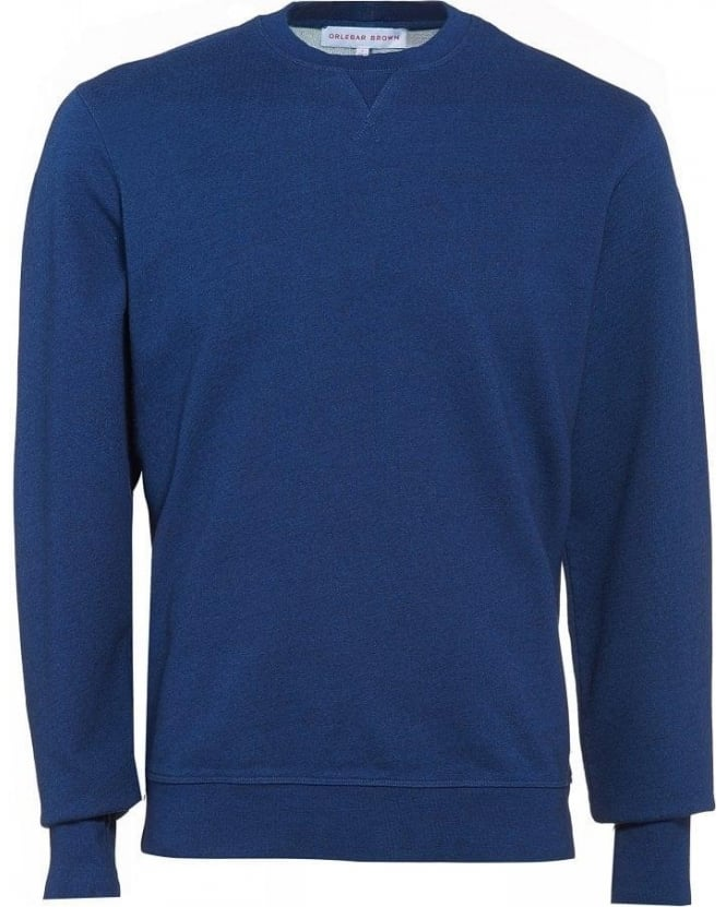 Orlebar Brown Sweatshirt, Morley Tailored Fit Blue Jumper