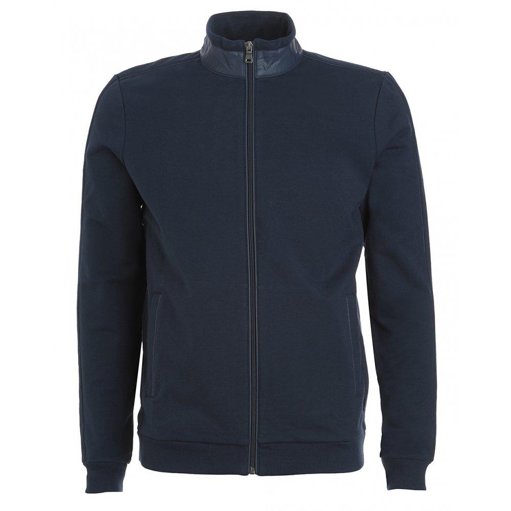Hugo Boss Black Sweatshirt Navy Blue Zip Through 'Cannobio 56' Sweater