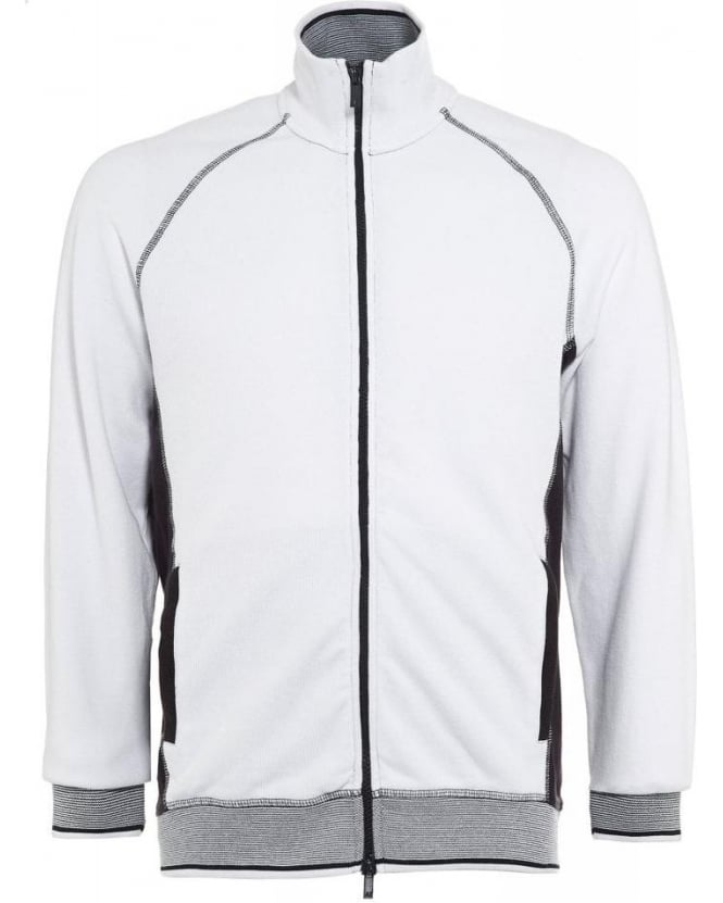 Armani Jeans Sweatshirt, White Zip Through Tracksuit Top
