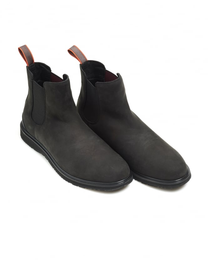 Swims Mens Barry Chelsea Boot, Classic Black Suede Boots
