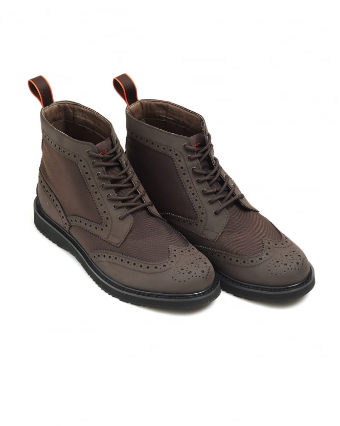 Swims Mens Barry High Brogue, Brown Waterproof Leather Boots