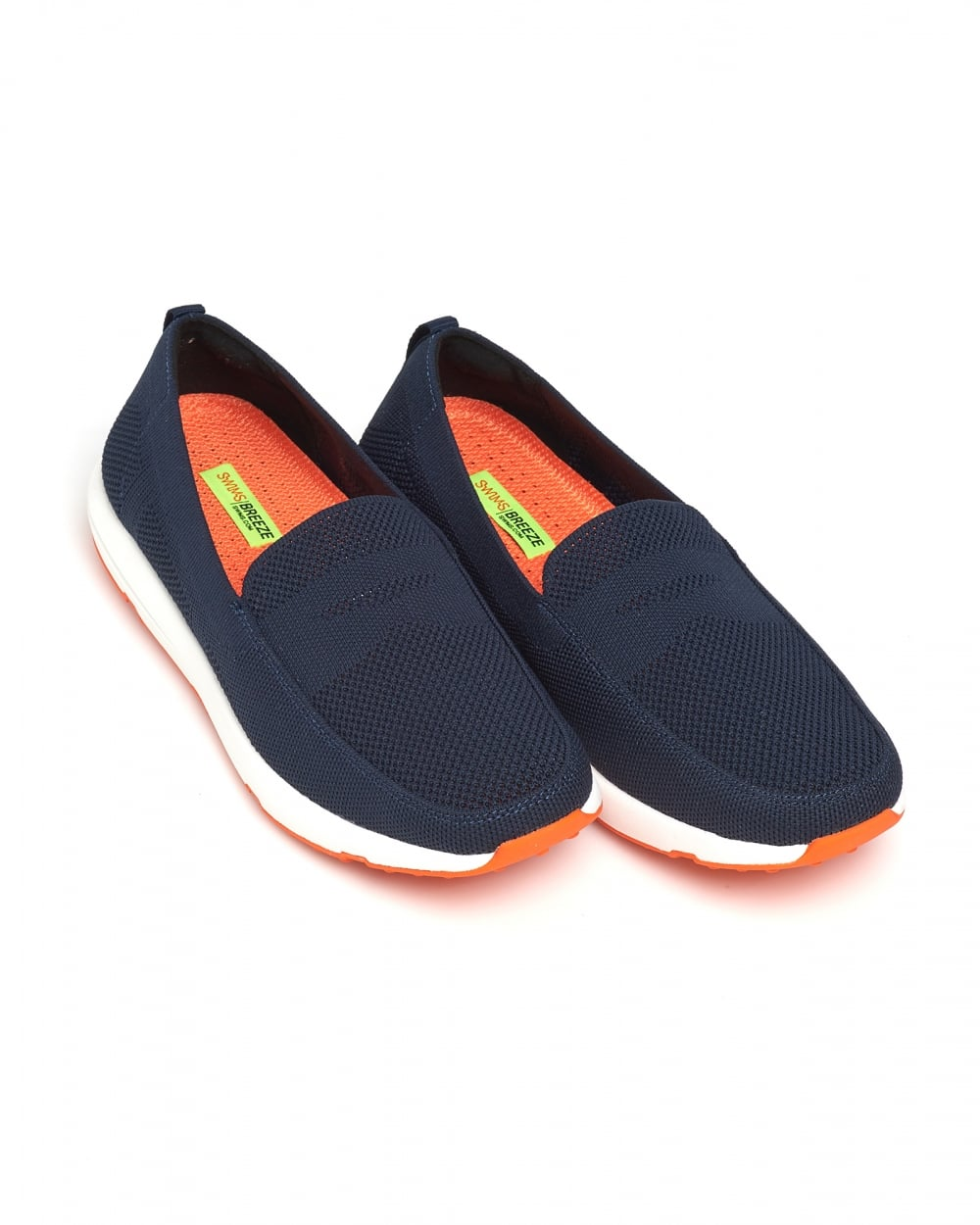 Swims Mens Breeze Leap Knit Penny Loafers, Navy Blue Shoes