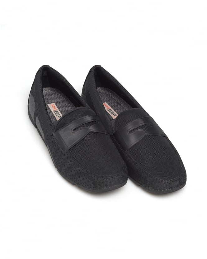 Swims Mens Breeze Penny Loafer, Black Shoes