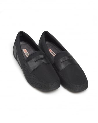 Mens Breeze Penny Loafer, Black Shoes