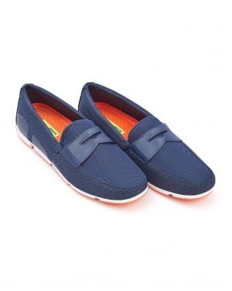 Mens Breeze Penny Loafer Navy Blue Shoes