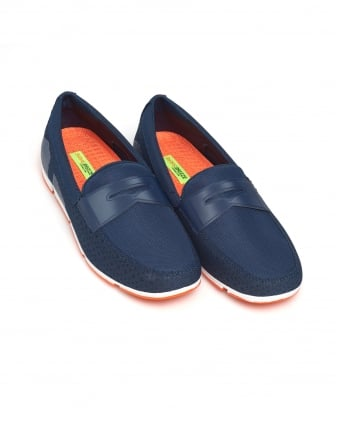 Mens Breeze Penny Loafer, Navy Blue Shoes